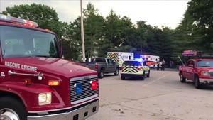 Servicios de emergencias desplegados en el lago Table Rock tras el accidente.