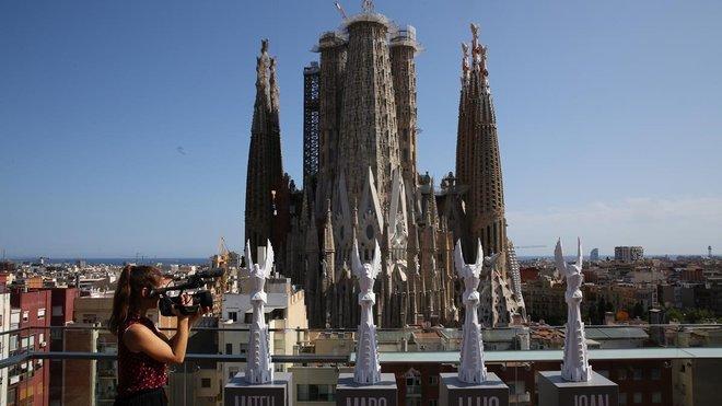 El prototipo de los terminales de las torres de los cuatro Evangelistas, presentados este jueves.