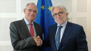 Sánchez Llibre, con el portavoz del Paralmento Europeo, Jaume Duch
