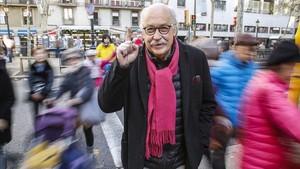 Ferran Monegal, retratado este viernes, en La Rambla