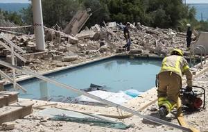 Foto del estado en que quedó la casa de Alcanar captada el 17 de agosto, unas horas antes del atentado de la Rambla.