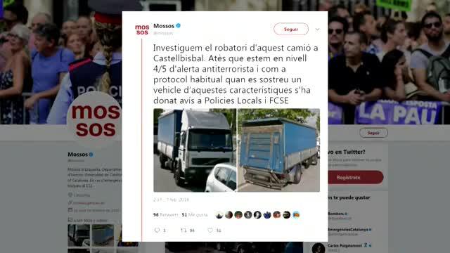 Els Mossos llancen una alerta per localitzar un camió robat a Castellbisbal