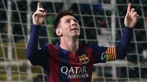 Leo Messi dedica un gol a su abuela Celia, la esposa del fallecido Antonio Cuccittini.
