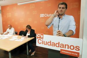 Albert Rivera, durante el consejo general de Ciudadanos, el pasado 20 de junio en Barcelona.