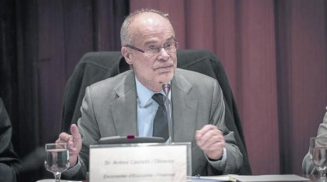Antoni Castells en el Parlament en el 2014.