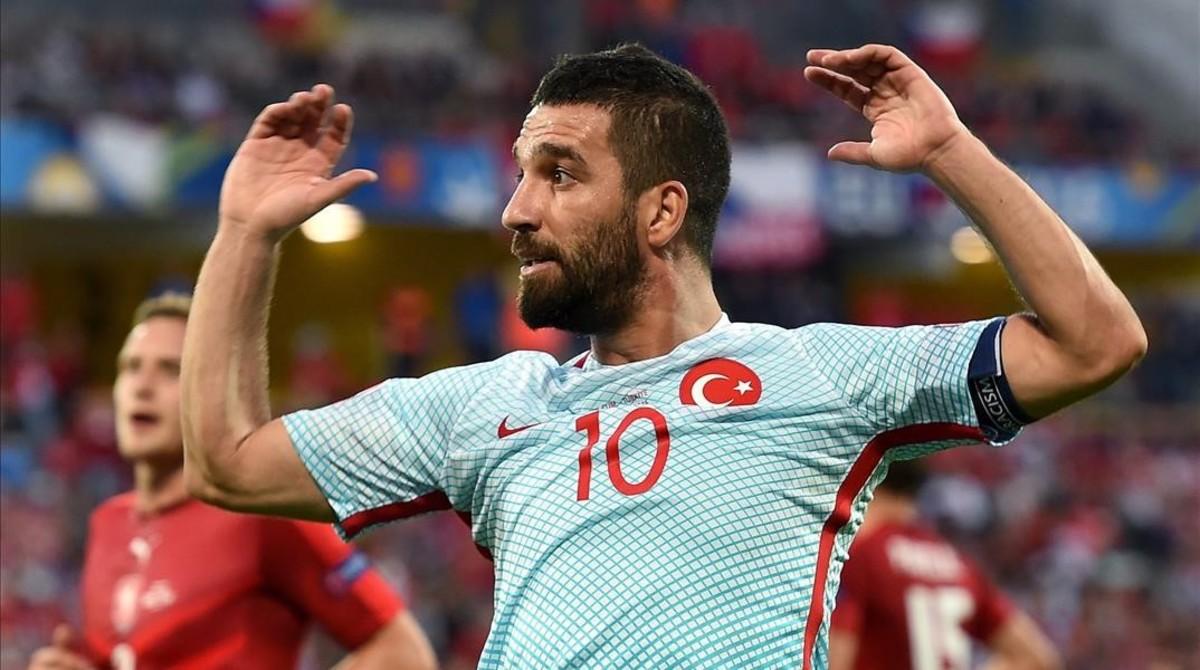 Arda Turan, en el Turquía-República Checa de la Eurocopa del año pasado.