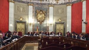 La sala donde se reúne el Tribunal Supremo en elConvento de las Salesas Reales deMadrid.