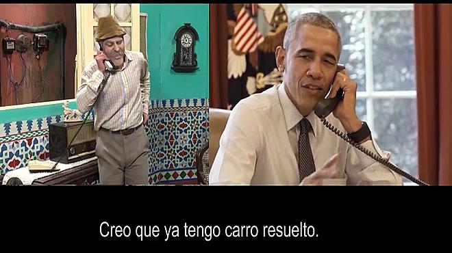 El president Barack Obama, en un esquetxcòmic amb l'humorista cubà Pánfilo.