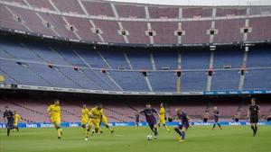 El Barça-Las Palmas del 1-O, sin público en el Camp Nou.