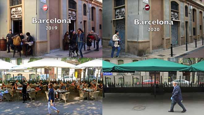 Barcelona, abans i després del confinament pel coronavirus | VÍDEO