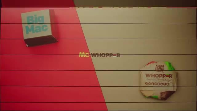 La cadena Burger King llança una proposta a McDonalds, el McWhopper.