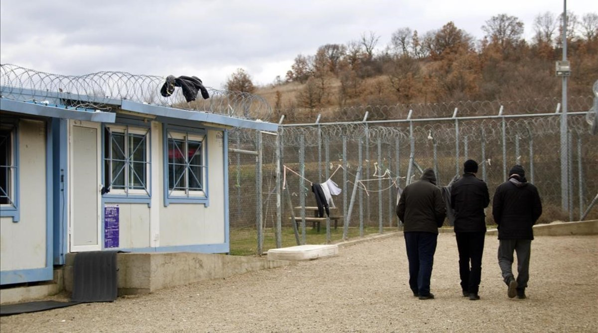 Campo de refugiados de Fylakio, en la región griega de Evros.
