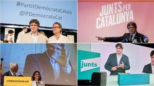 Carles Puigdemont, en los actos fundaciones del PDECat, JxCat, la Crida y Junts