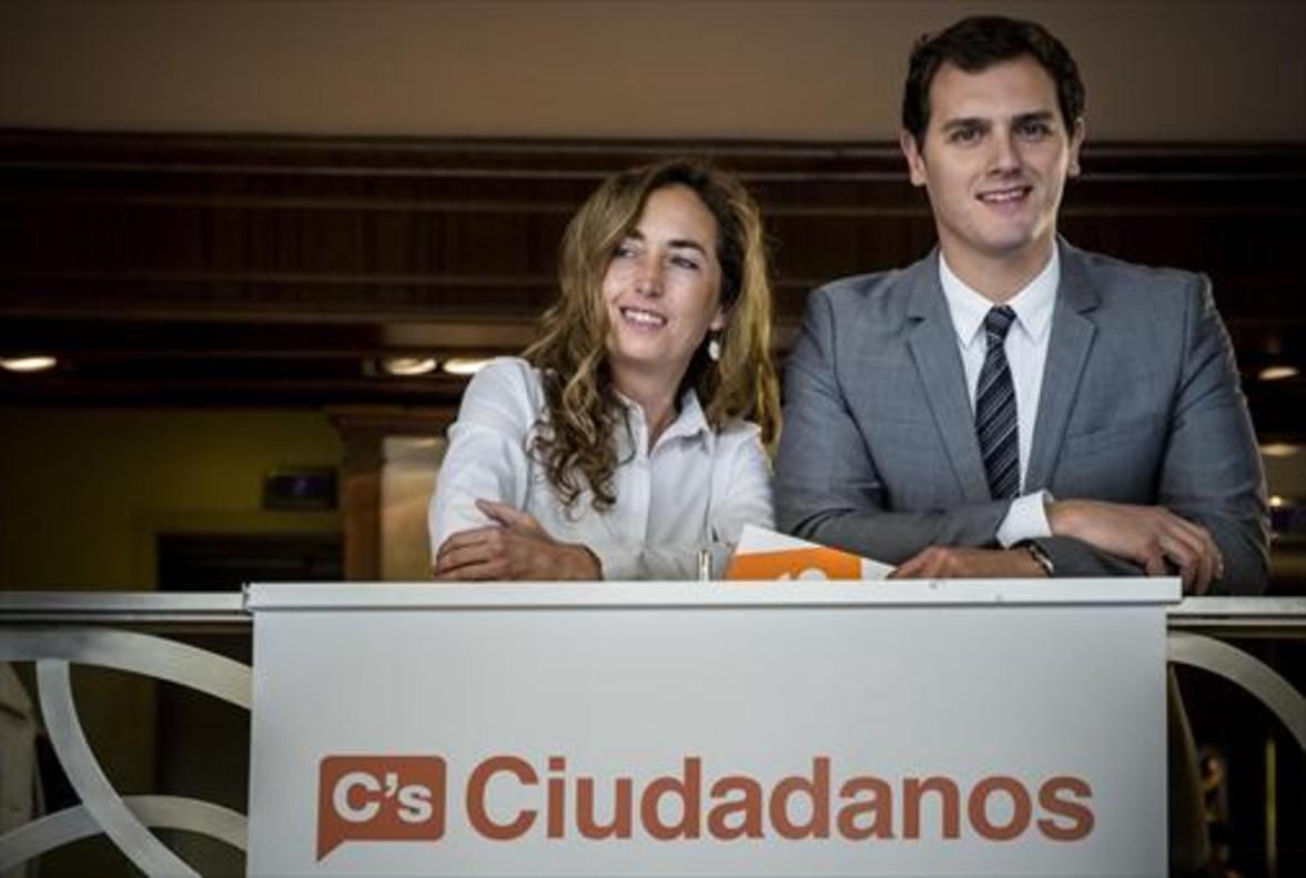 Carolina Punset y Albert Rivera, el 2 de febrero del 2015 en València.