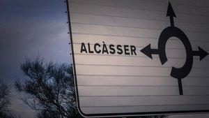 Cartel indicativo de la localidad de Alcàsser.