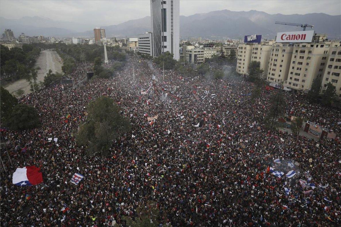 Una manifestación en Chile con más de un millón de personas.
