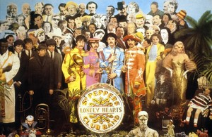 Mítica portada del disco de los Beatles Sgt. Peppers Lonely Hearts Club Band.