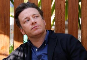 El cocinero Jamie Oliver, en el Port Vell de Barcelona, el pasado 12 de mayo.