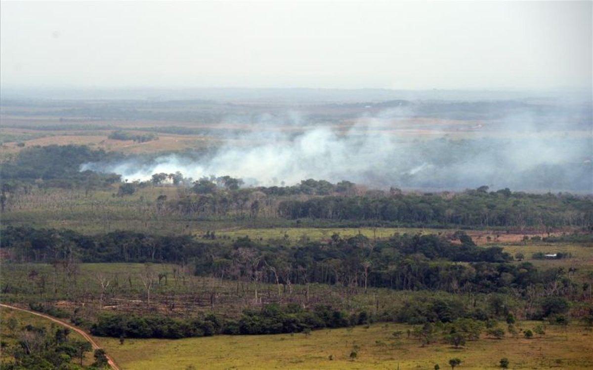 Incendios enla Serranía de La Macarena, Colombia.
