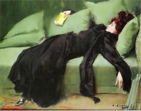 'DESPUÉS DEL BAILE O JOVEN DECADENTE'(1899), DE RAMON CASAS. Casas convirtió la figura femenina en uno de su motivos más habituales. Pintó tanto a la mujer sofisticada próxima al decorativismo de 1900, como a la mujer moderna alejada de la imagen tradicional.