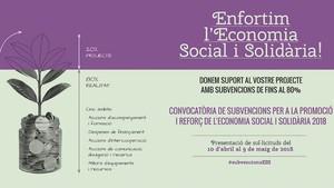 Nova onada de subvencions a l'economia social