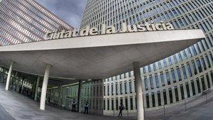 Edificio de la Ciutat de la Justícia de Barcelona.