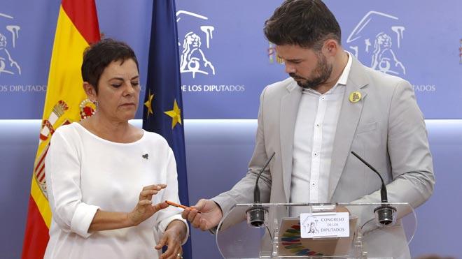 ERC y Bildu se abstendrán en la investidura de Pedro Sánchez.