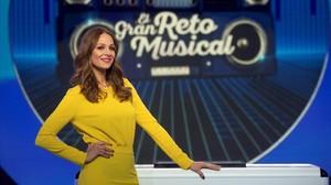 Eva González, en el plató del nuevo concurso El gran reto musical.