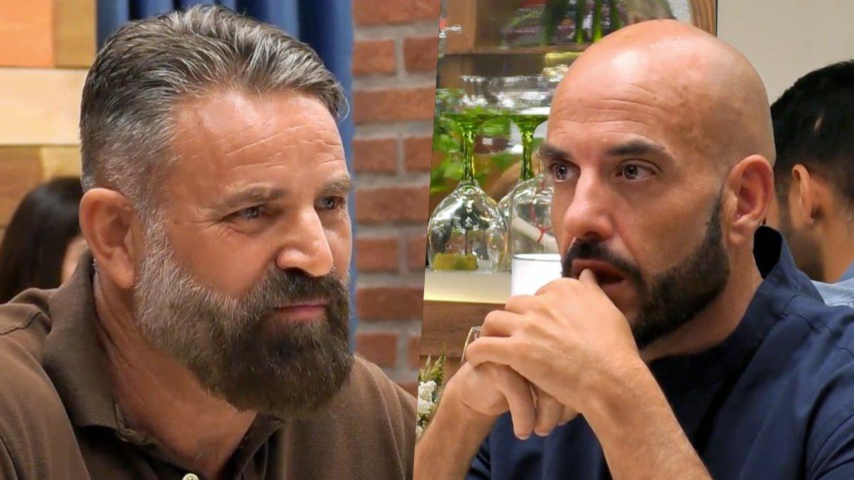 Fermín y Antonio en 'First Dates'.