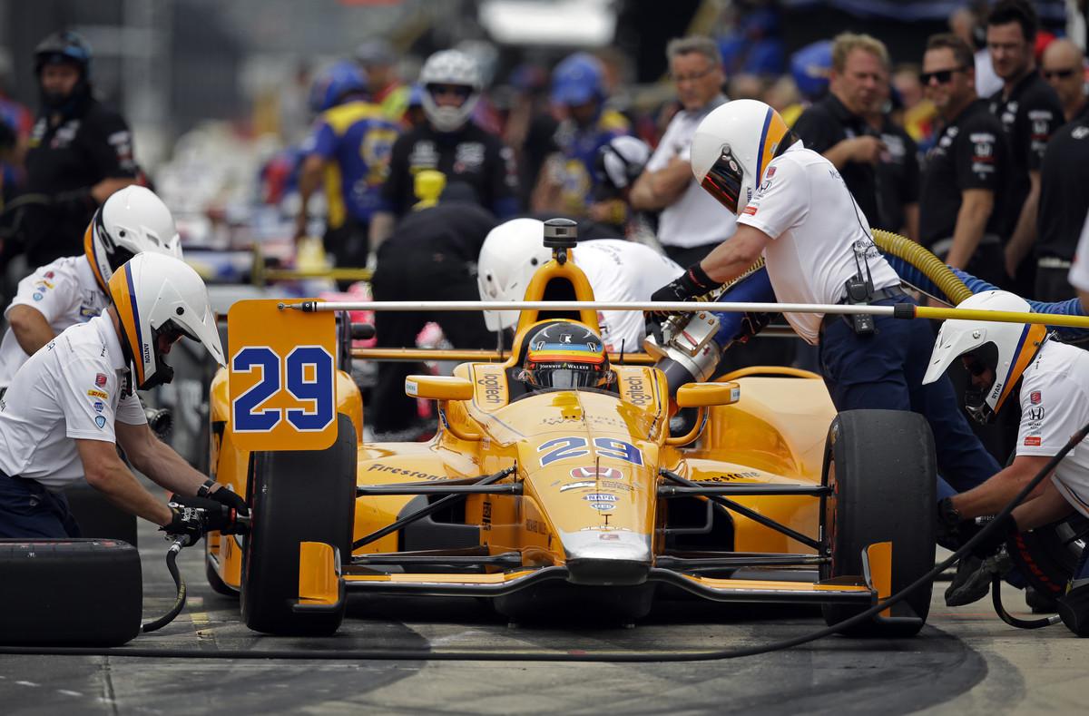 Fernando Alonso, durante los entrenamientos.