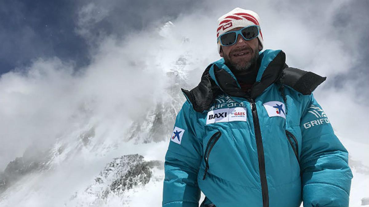 Ferran Latorre, en el Everest, este sábado.