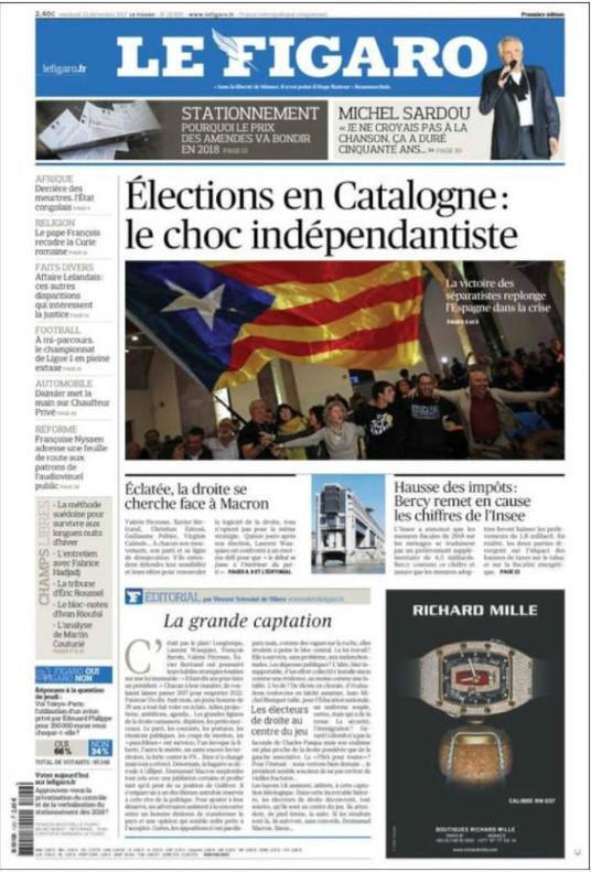 Portada de 'Le Figaro'.
