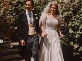 20/07/2020 Fotografía oficial de la boda de Beatriz de York y Edoardo Mapelli en la capilla del Palacio de Windsor