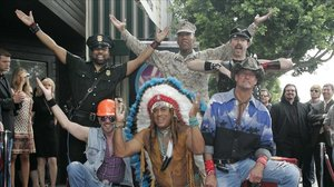 El grupo Village People, en el 2008.