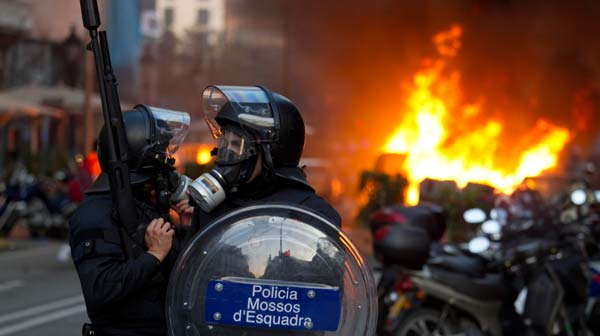 Guerrilla urbana en Barcelona.