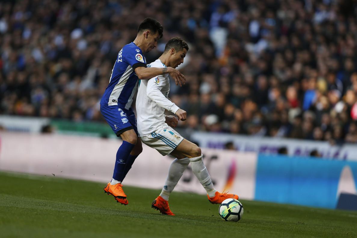 Hernán Pérez, junto a Cristiano Ronaldo.