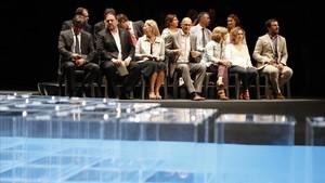 Imagen de archivo del acto político Garanties per a la Democràcia que tuvo lugar el 4 de julio en el Teatre Nacional.
