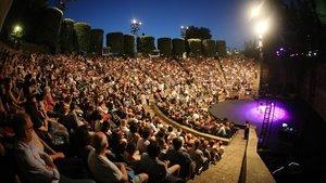 Aspecto delTeatre Grec el año pasado en la noche inaugural del festival de verano de Barcelona.