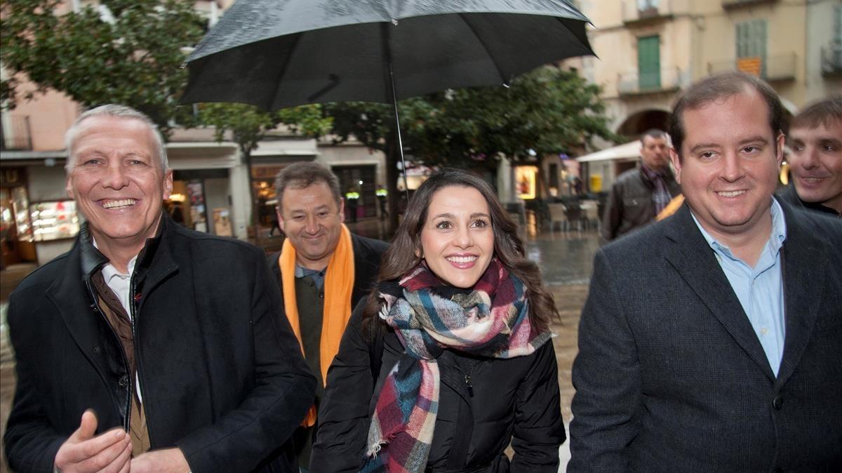 Inés Arrimadas, este viernes, en Figueres.