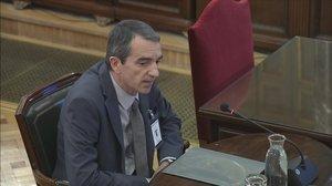Joan Carles Molinero declara en el Tribunal Supremo en el juicio por el procés.