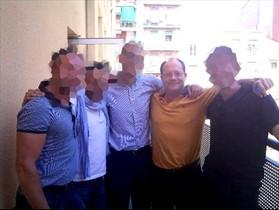 Joaquim Benítez, en un encuentro con exalumnos del colegio de los Maristas en Sants-Les Corts.
