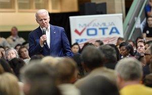 Joe Biden, aspirantedemócrata a la presidencia de los EEUU.