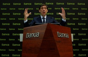 El presidente de Bankia, José Ignacio Goirigolzarri,en la presentación del plan estratégico en febrero del 2018.