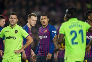 Imagen del Barça-Levante, de este jueves, en el Camp Nou.