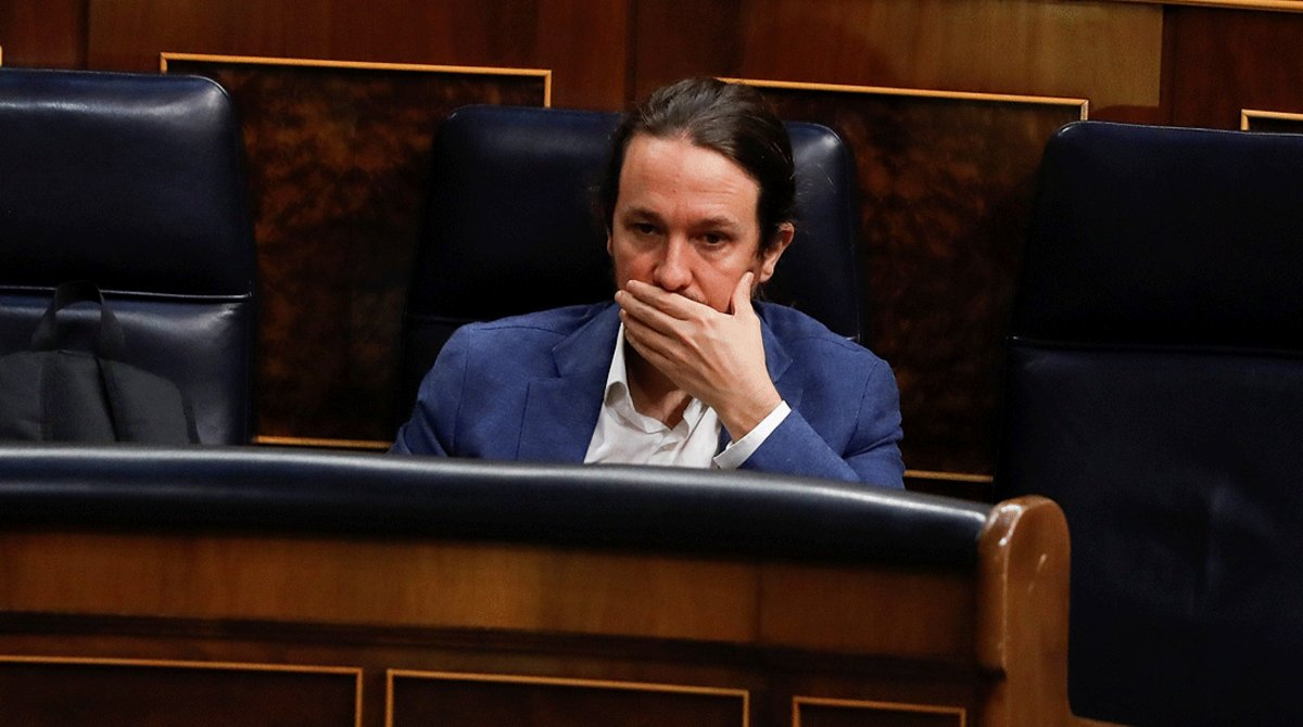 El líder de Podemos y vicepresidente segundo del Gobierno, Pablo Iglesias, en el Congreso.