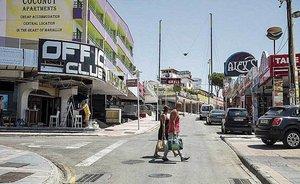 La calle Punta Ballena de Magaluf, el pasado viernes.