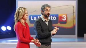 Núria Solé y Roger de Gràcia, presentadores de 'La Marató'.