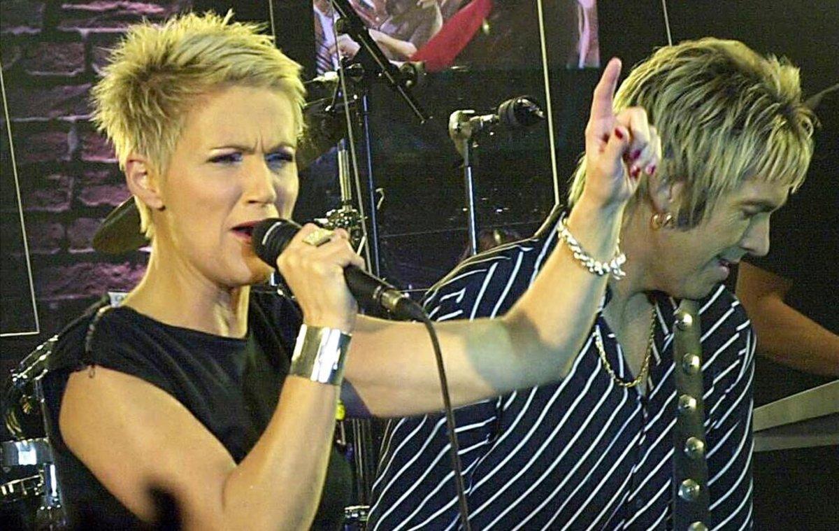 Marie Fredriksson y su compañero en Roxette, Per Gessle.