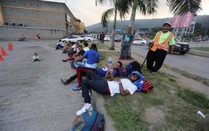 Caravana de inmigrantes centroamericanos.