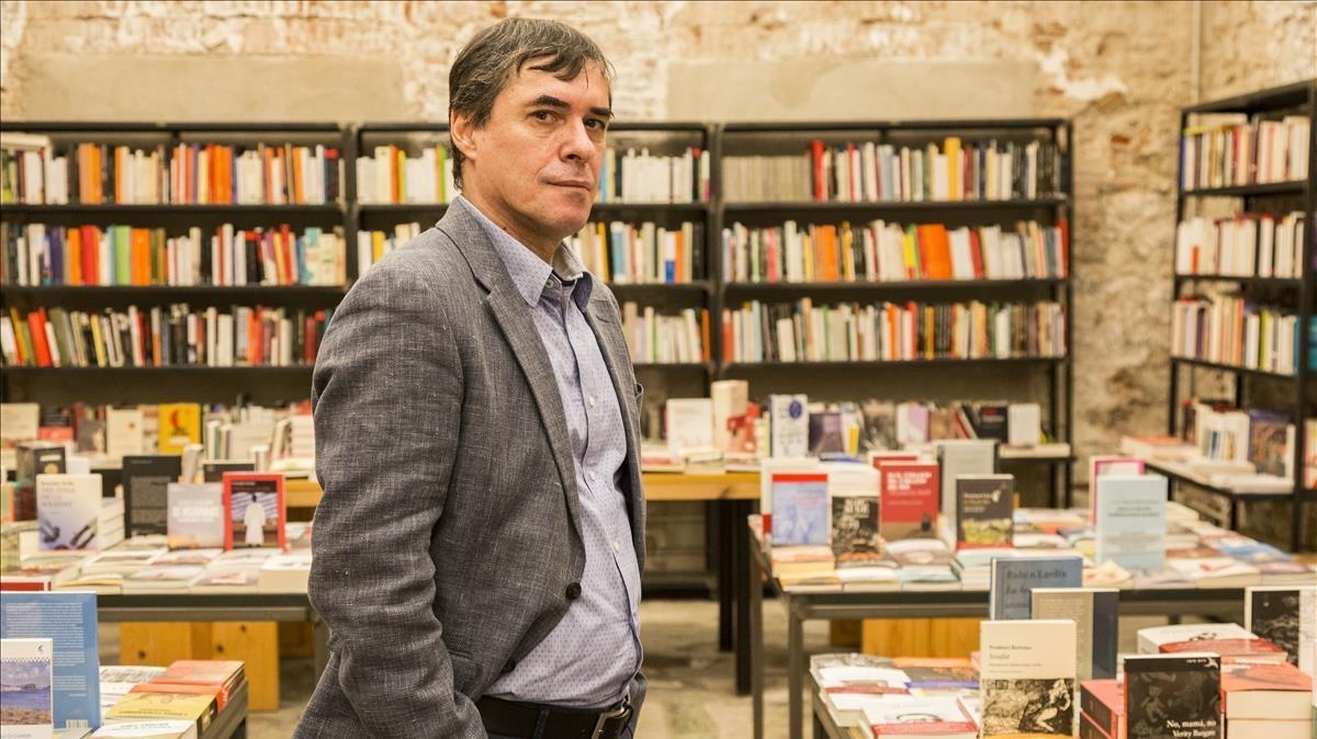 Mircea Cartarescu, durante su visita a Barcelona en diciembre del 2017.